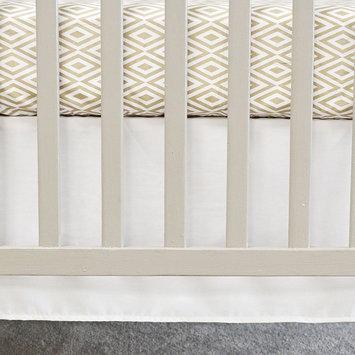 Oliver B Flat Panel Crib Skirt (White)