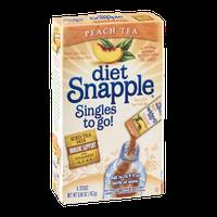 Snapple Diet Singles To Go! Peach Tea - 6 CT