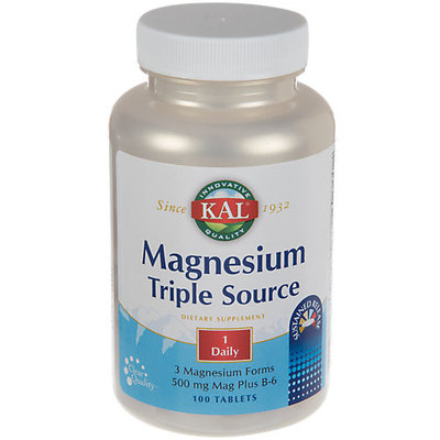 Magnesium, Triple Source Sustained Release 500 mg Kal 100 Tabs