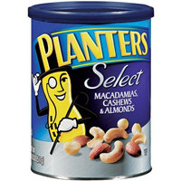Planters Select Macademians, Cahews and Almonds