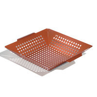 Outset QN79 Copper Nonstick Square Grill Wok