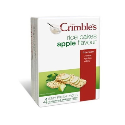 Mrs Crimble's Apple Rice Cakes, 4.9-Ounce (Pack of 6)