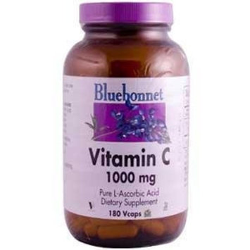 Bluebonnet Vitamin C 1000 mg Vegetable Capsules, 180 Count