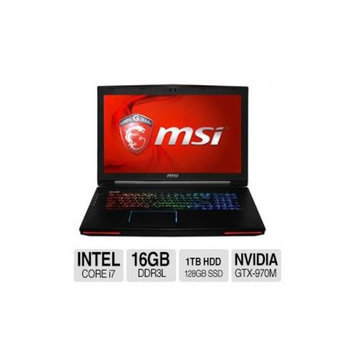 MSI GT72 Dominator-405 Intel Core i7 16GB Memory 1TB HDD + 128GB SSD NVIDIA Geforce GTX 970M 17.3