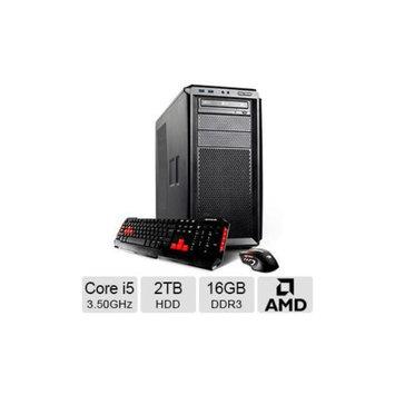 iBUYPOWER TGP743 Workstation PC - Intel Core i5-4690 3.50GHz, 16GB DDR3 Memory, 2TB HDD, 240GB SSD, DVDRW, 2GB AMD FireP