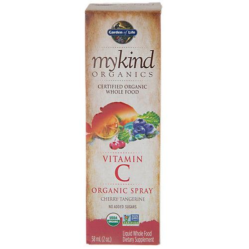 Garden of Life Mykind Organics Vitamin C Organic Spray Cherry-Tangerine 2 oz - Vegan