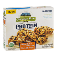 Cascadian Farm Organic Protein Peanut Butter Chocolate Chip Chewy Bars - 5 CT
