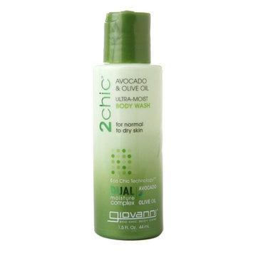 Giovanni 2chic Ultra-Moist Body Wash Avocado & Olive Oil, Travel Size, 1.5 fl oz