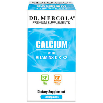 Dr Mercola Calcium with Vitamins D & K2 - 60 Capsules