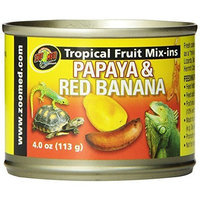 Zoo Med Tropical Fruit Mix-ins Papaya and Red Banana Reptile Food, 4-Ounce