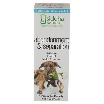 Siddha - Cell Salts Flower Essences Pets Abandonment & Separation Homeopathic Remedy - 1 oz.