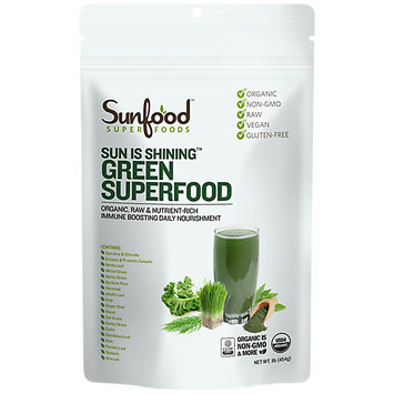 Sunfood Superfoods - Sun is Shining Green Superfood Powder - 1 lb.