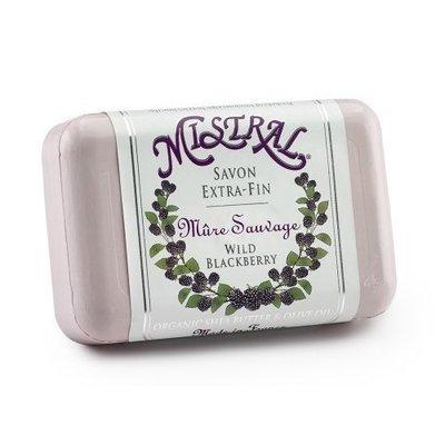 Mistral Shea Butter Soap, Wild Blackberry, 7-Ounce Bar