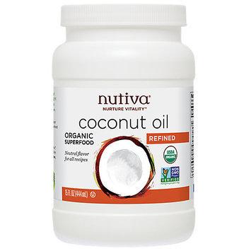 Nutiva Organic Coconut Oil Refined 15 fl oz - Vegan