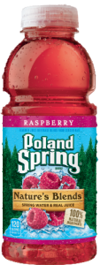 Poland Spring® Nature's Blends™ Raspberry Spring Water & Real Juice 16 fl. oz. Plastic Bottle