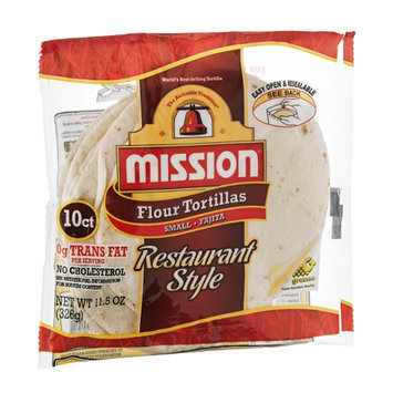 Mission Flour Tortillas Restaurant Style Small - 10 CT