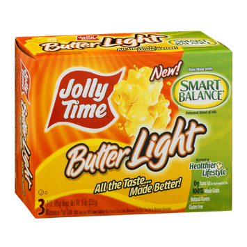Jolly Time Butter Light Microwave Pop Corn - 3 CT