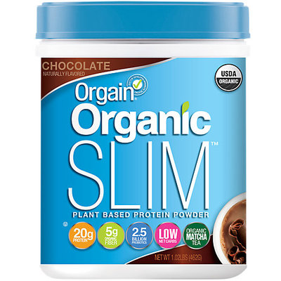 Orgain Organic Slim Chocolate Plant Based Protein Powder - 16.32 oz