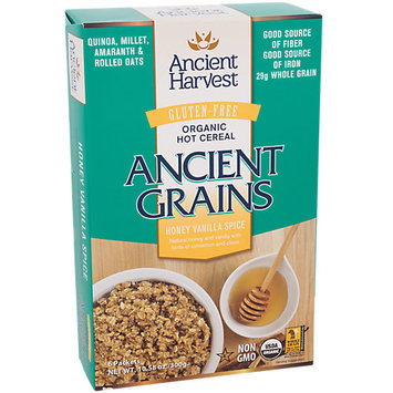 Ancient Harvest Ancient Grains Organic Hot Cereal Honey Vanilla Spice 6 Packets
