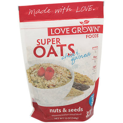 Love Grown Foods Cereal, Super Oats, Nuts & Seeds (6x12 OZ)