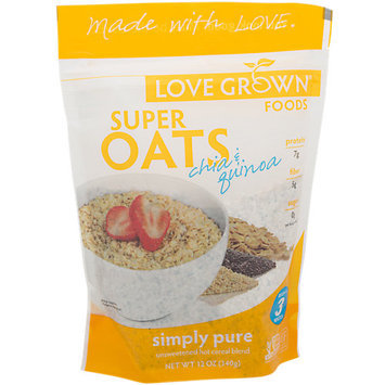 Love Grown Foods BPC1025158 Love Grown Foods Cereal Super Oats Simply Pure - 6x12 OZ