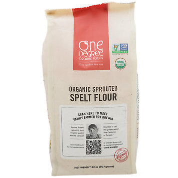 One Degree Organic Foods FLOUR, OG2, SPRTD, SPELT, (Pack of 6)