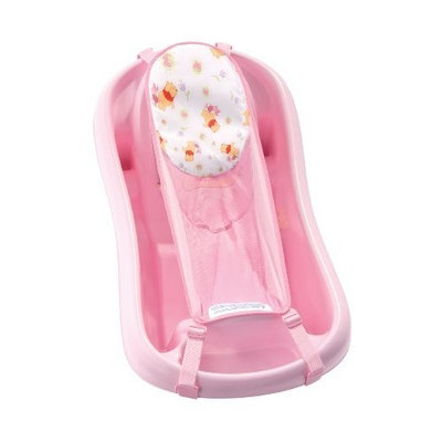 The First Years Disney Pooh Tub with Bath Sling and Bath Toys, Pink