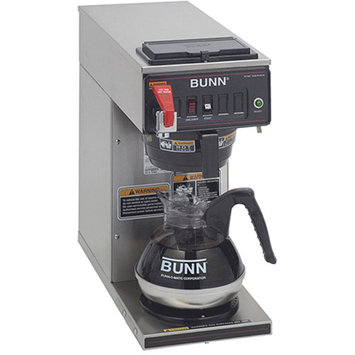 Bunn 120-cup Automatic Commercial Coffee Maker with 1 Warmer, 12950.0293, Black/Stainless