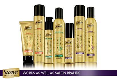Suave Professionals Luxe Style Infusion Collection