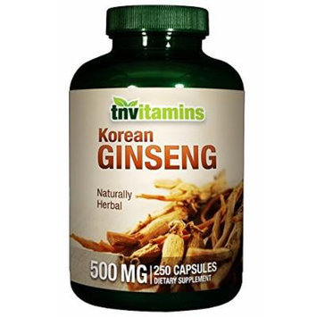 Korean Ginseng 500 Mg - 250 Capsules