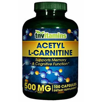 Acetyl L Carnitine 500 Mg. - 100 Capsules