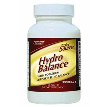 Diet Source Hydro Balance Tabs With Potassium - 90 Tablets
