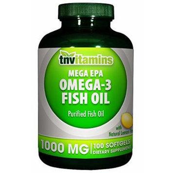 Omega 3 Fish Oil 1000 Mg- Mega EPA - 100 Softgels