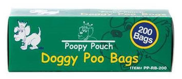 POOPY POUCH PP-RB-200 Pet Waste Bag,13in.L x 8in.W,1 lb, PK10