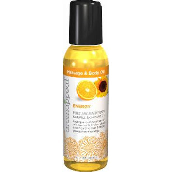 Aromappeal Energy Massage & Body Oil-4 oz Oil