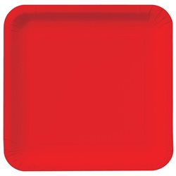 Creative Converting Classic Red (Red) Square Dinner Plates