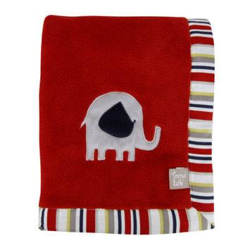 Test Trend Lab Red Framed Elephant Parade Receiving Blanket Kid's