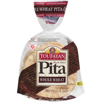 Toufayan Whole Wheat Pita Bread, 6 count