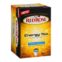 Red Rose Energy Tea Single Serve Cups French Vanilla - 12 CT