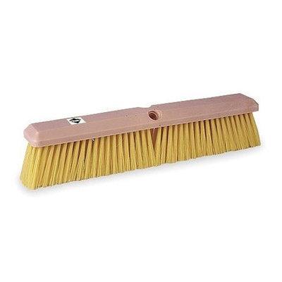 TOUGH GUY 1A840 Push Broom, Ylw Synthetic, GnrlPurpose