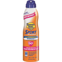 Banana Boat Sport Performance UltraMist Continuous Spray Sunscreen, SPF 50+, Family Size, 9.5 oz