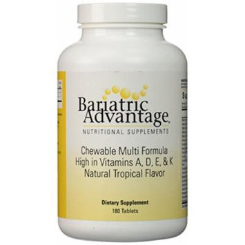 Bariatric Advantage Multi Formula Chewable Natural Tropical -- 180 Tablets