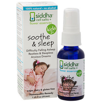 Siddha - Cell Salts Flower Essences Kids 2 Soothe & Sleep Homeopathic Remedy - 1 oz.