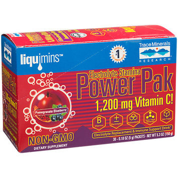Electrolyte Stamina Power Pak Non-GMO Pom-Blueberry Trace Minerals 30 Packets Bo