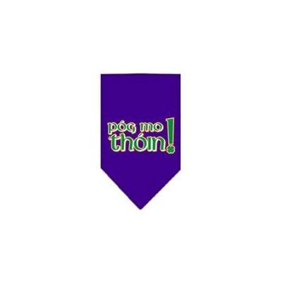 Ahi Pog Mo Thoin Screen Print Bandana Purple Large