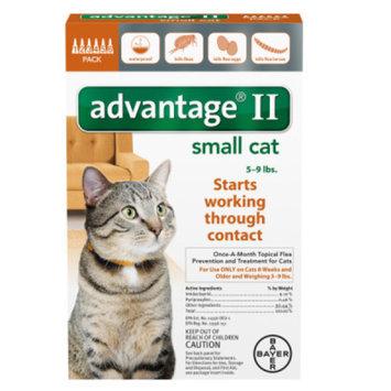 Advantage II Cats 5-9 lbs, 6 Months, 6 ea