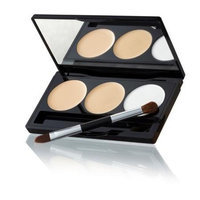 Laura Geller Triple Duty Concealer Palette Compact with Brush - Conceal, Correct & Set - Light