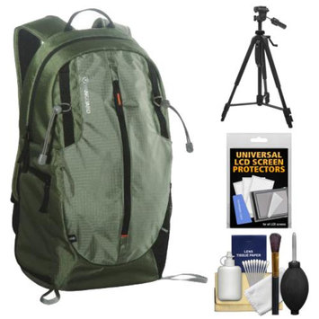 Vanguard Kinray Lite 48 Digital SLR Camera Backpack Case (Green) with Tripod + Cleaning Kit