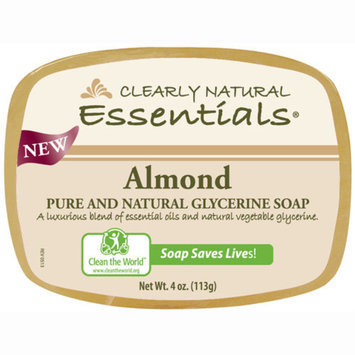 Clearly Naturals Clearly Natural 1279629 Glycerin Bar Soap Almond 4 oz.
