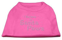 Mirage Pet Products 522511 XSBPK I Believe in Santa Paws Shirt Bright Pink XS 8